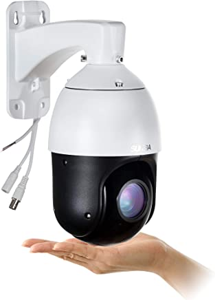 SUNBA 22X Optical Zoom, 960H Analog High Speed PTZ Camera, CCTV 328ft Night Vision Outdoor Security Dome RS485 Control (405-22X)