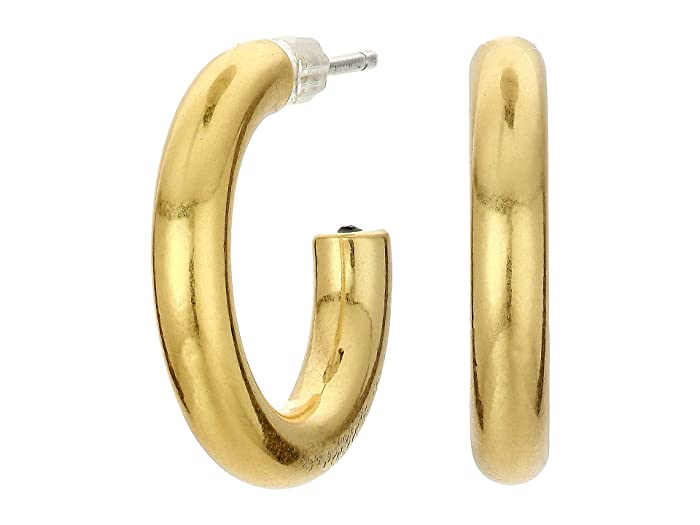 50s Jewelry: Earrings, Necklace, Brooch, Bracelet Madewell Chunky Small Hoop Earrings Vintage Gold Earring $20.00 AT vintagedancer.com