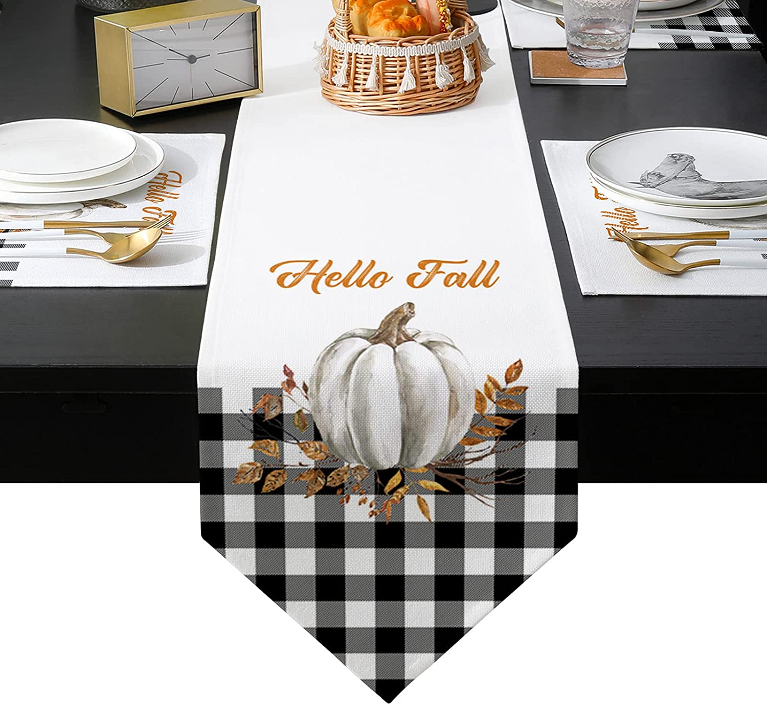 Placemats Bombing free shipping Set of 6 and Table Runner Dallas Mall Long inches T 90 Dinning for
