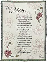Dicksons Dear Mom You Mean So Much 52 x 68 inch Woven Cotton Throw Blanket
