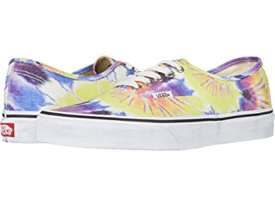 Vans Authentictm ((Washed) Tie-Dye/True White) Skate Shoes