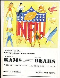 10/10 1948 Chicago Bears vs Los Angeles Rams Football Program bxnflp