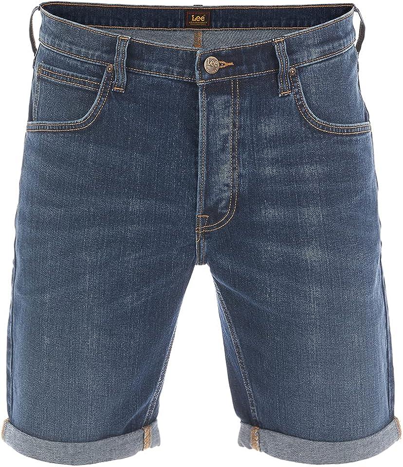 Herren Jeans Short Regular Fit Kurze Stretch Shorts Baumwolle Bermuda Sommer Hose Blau w30 w31 w32 w33 w34 w36 w38 w40