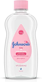 Johnson's Baby Oil, Pure Mineral Oil to Prevent Moisture Loss, Original 14 fl. oz (Packaging May Vary)(Pack of 6)