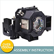 LOUTOC Projector Lamp Bulb V13H010L41 for Epson ELPLP41 PowerLite Home Cinema 77C 78 S5 S6 W6 700 EMP-260 77C S5 S52 X5 X52 X6 EX21 EX30 EX50 EX70 H283A H284A