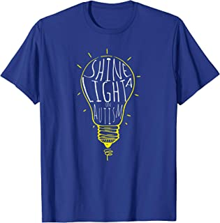 Shine a Light On Autism T-Shirt Autism Aware Shirt Blue