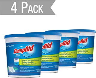 DampRid DR MOIST ABS 10.5OZ PURE LINEN Moisture Absorber, 4 Pack - Blue