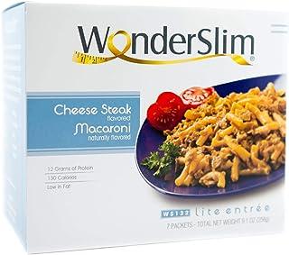 WonderSlim Cheese Steak Macaroni Diet/Weight Loss Meal (7 Servings/Box) - Low Fat, Trans Fat Free