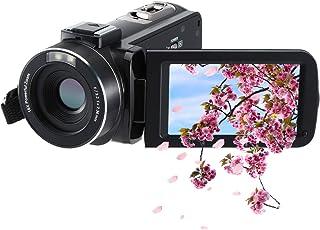 ビデオカメラ 1080P FamBrow 24百万画素3.0インチTFT LCD 270度回転スクリーン16倍デジタルズーム2つのバッテリー付きハンドヘルドカメラレコーダービデオカメラ日本語マニュアルと1年間の保証
