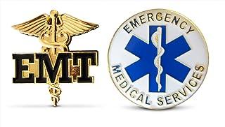"USA E.M.T Emergency Medical Technician .75/"" lapel pin badge clutchback c//b"