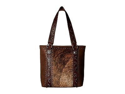 M&F Western Lynlee Conceal Carry Tote (Brown) Handbags