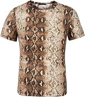 snake print t shirts mens