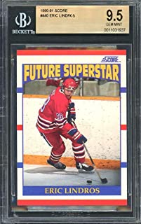 1990-91 score #440 ERIC LINDROS philadelphia flyers rookie card BGS 9.5 Graded Card