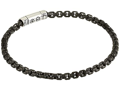 John Hardy Classic Chain 4 mm. Box Chain Bracelet with Black PVD