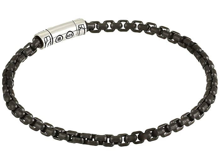 John Hardy  Classic Chain 4 mm. Box Chain Bracelet with Black PVD (Silver) Bracelet