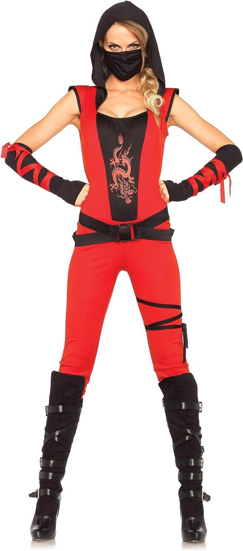 Leg Avenue Ninja Assassin Costume (Medium, Red Black)