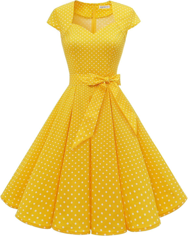 MUADRESS Women's Retro 1950s Cap Prom Max cheap 58% OFF Rockabilly Sleeve Vintage