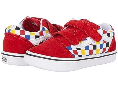 Vans Kids ComfyCush New Skool V (Infant/Toddler) ((Checkerboard) Multi/Black) Boy