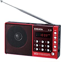 XHDATA D-38 FM-Stereo / MW / SW / MP3-Player / DSP Vollband Radio D38 Red