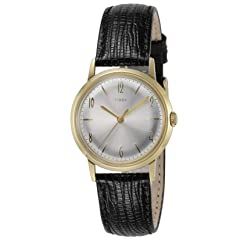 Timex Marlin 34mm Hand-Wound Leather Strap Watch: TW2T18400