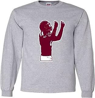 Long Sleeve Gray Manziel Texas Money T-Shirt