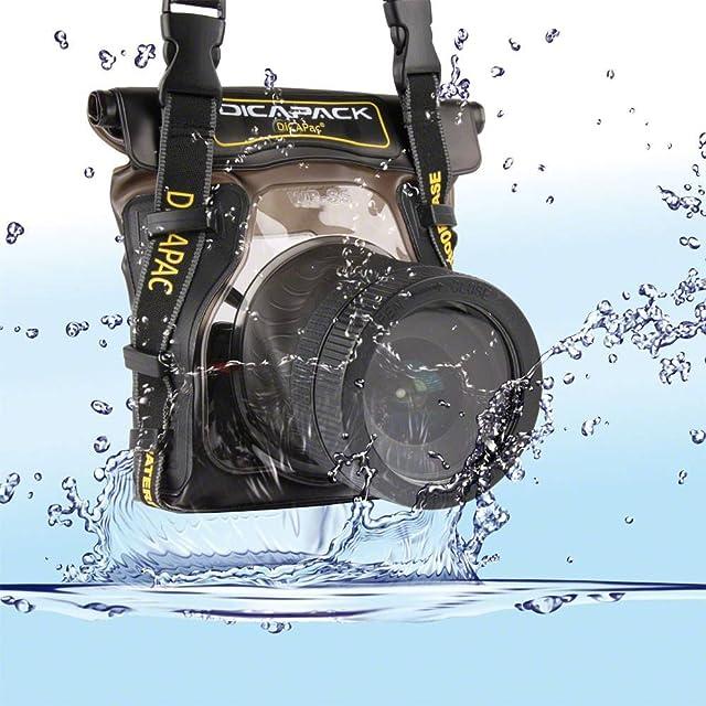 Dicapac WP-S5 - Carcasa submarina para cámara (Poliuretano PVC 450 g 210 x 180 x 50 mm)
