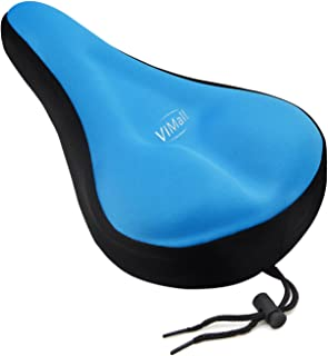 ViMall Bike Saddle Cover/Bike Seat Cover, Unisex Comfortable Silicone & Memory Foam Padded Soft Gel Relief Cycling Bicycle Saddle Seat Cushion Pad Cover for Mountain Biking&Ride Race