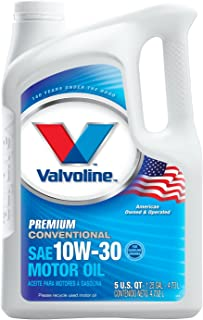 Valvoline Premium Conventional 10W-30 Motor Oil - 5qt (Case of 3) (779307-3PK)