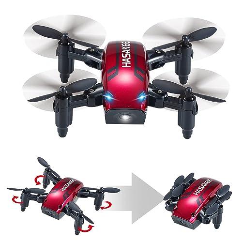 HASAKEE Pliable Mini Drone avec Mode de Maintien en Altitude 2.4Ghz 6 Axes Gyroscope RC Selfie Quadcopter avec Mode Sans Tête et 3D FLIPS,Bon pour les débutants