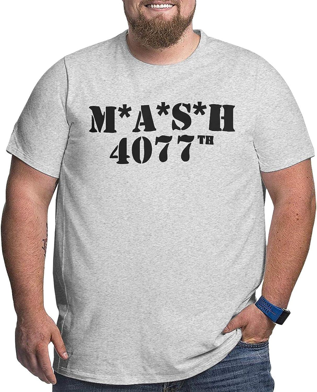 Mash Distressed Men's Simple Big Size Summer Outdoor Short Sleeve Round Collar Tshirt