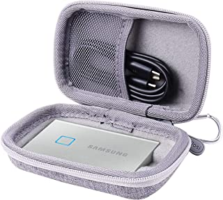 Aenllosi Hard Carrying Case for Samsung T7 Touch Portable SSD - 500GB 1TB - USB 3.2 (Grey)