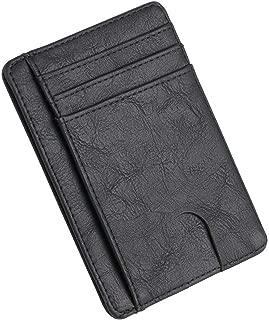 Slim Blocking Leather Wallet Credit Id Card Holder Money Case For Men Women Bag 11.5x8x0.5cm