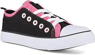 Twisted Girl's Canvas KIX Double Upper Lo-Top Sneaker