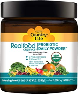 Country Life Real Food Organics Probiotic Daily Powder 3.1oz