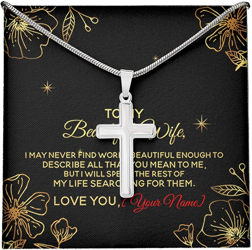 NINOMAXX to My Beautiful Max New products, world's highest quality popular! 68% OFF Wife Anniversary Name V Customized Your