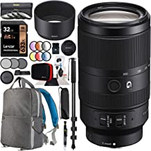Sony E 70-350mm F4.5-6.3 G OSS Super Telephoto Lens SEL70350G for APS-C E-Mount Cameras Bundle with 67mm Deluxe Photography Filter Kit, Deco Gear Backpack Case and Accessories