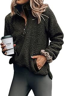 sherpa lined half zip sweatshirt