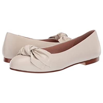 French Sole Devout Bow Flat (Off-White Leather) Women