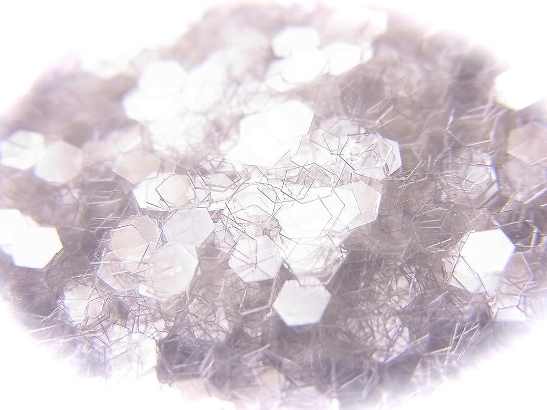 遺棄された蒸気モニカ六角ホログラム 2.5mm 0.5g 選べる20色 (クリアホワイト)