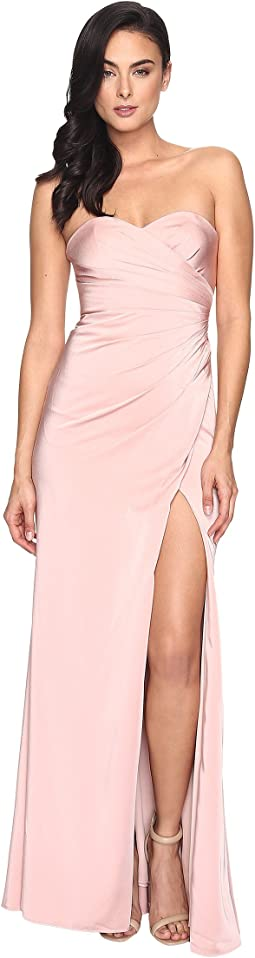 Faille Satin Strapless w/ Side Draping 7891
