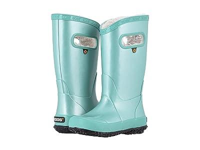 Bogs Kids Rain Boots Metallic Plush (Toddler/Little Kid/Big Kid) (Turquoise) Girls Shoes