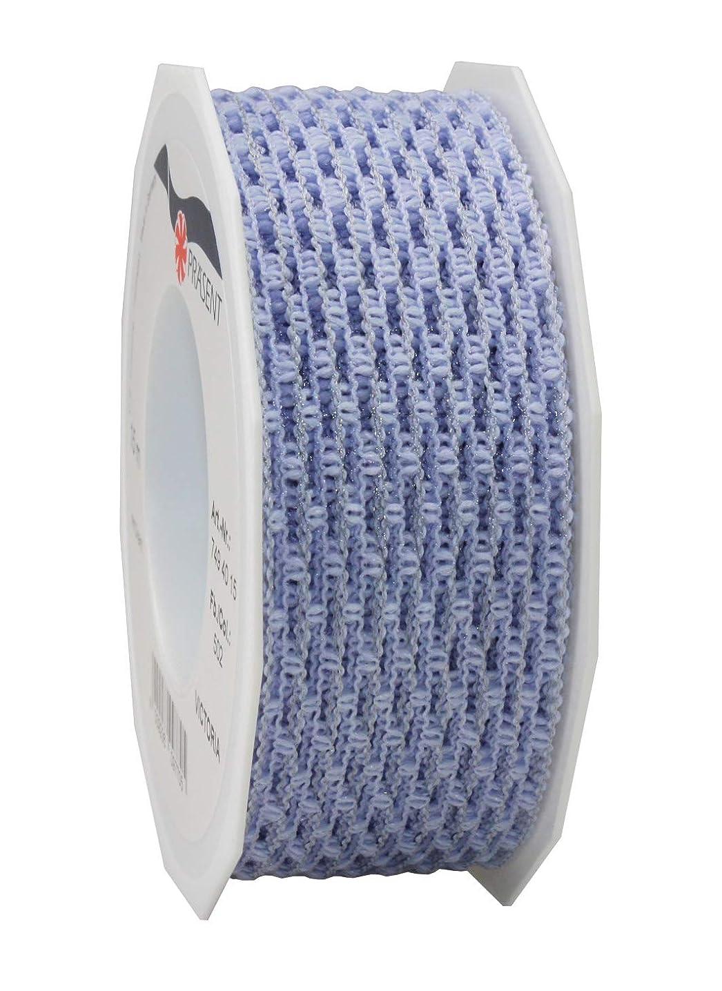 Pr?sent Victoria Full Wired Ribbon, Pastel Blue, 40 mm-15 m
