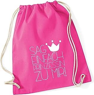 """Baumwoll Turnbeutel mit Spruch Motiv /"""" Prinzessin /"""" Jute Tasche Gym Bag"""