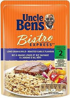 Uncle Ben's Bistro Express Long Grain and Wild-Roasted Garlic Flavor Rice, 250 Gram