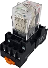 API-ELE [ 3 Year Warranty] 110V AC Electromagnetic Power Relay MY4NJ HH53P Coil 4PDT 4NO+4NC 14 Pins 5A with Indicator Light With Base (110V AC)