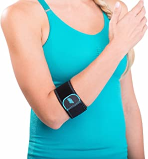 DonJoy Advantage DA161EB01-BLK Golf/Tennis Elbow Lightweight Strap for Golfer's and Tennis Elbow, Adjustable Neoprene Fabric, Right or Left, Fits Most, 7