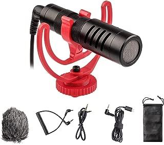 VILTROX ビデオ録音用マイク 外付けマイク 全指向性集音 3.5mmデジタルビデオ録音用マイク 一眼レフマイク カメラマイク ウインドシールド付きDSLRカメラ/タブレット/iPhone/Androidスマホに対応