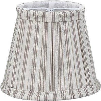 Better & Best 0213129–écran de lampe de soie, avec pince de fixation pour ampoules type bougie, table étroite, de 12cm, avec rayures rouges