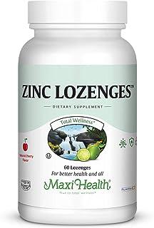 Sponsored Ad - Maxi-Health Zinc Lozenges - Zinc Citrate 10mg - with Vitamin C - Cherry Flavor - 60 Chewables - Kosher