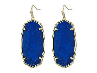 Kendra Scott Faceted Elle Earrings (Gold Cobalt Howlite) Earring